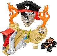 Трек Хот Вилз с машинкой монстр Hot Wheels Monster Jam Pirate Takedown