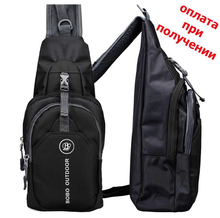 98ca27eb0fec Мужская тканевая спортивная сумка рюкзак бананка через плечо BOBO OUTDOOR -