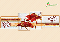 Схема для вышивания бисером Маковая соната (полиптих,серия «Элит») АР2-007