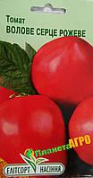 "Семена томата Бычье сердце розовое, раннеспелый 0,1 г , ""Елiтсортнасiння"", Украина"