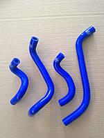 Силиконовые патрубки печки ВАЗ 2108 2109 21099 2113 2114 2115 синие