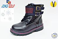 Модные зимние ботинки для девочек темно-синие. В остатке 27р.
