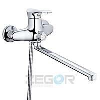 Смеситель для ванны длинный гусак, Z65-NPO ZEGOR (TROYA)