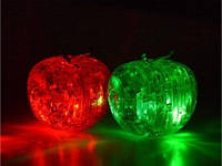 3Д Пазлы кристалл Crystal Puzzle Яблоко с подстветкой, фото 1