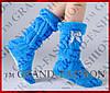 Комнатные сапожки (цвет голубой) р.35-37