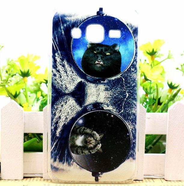 Силиконовый бампер для Samsung J500H Galaxy J5 с картинкой кот в очках 2