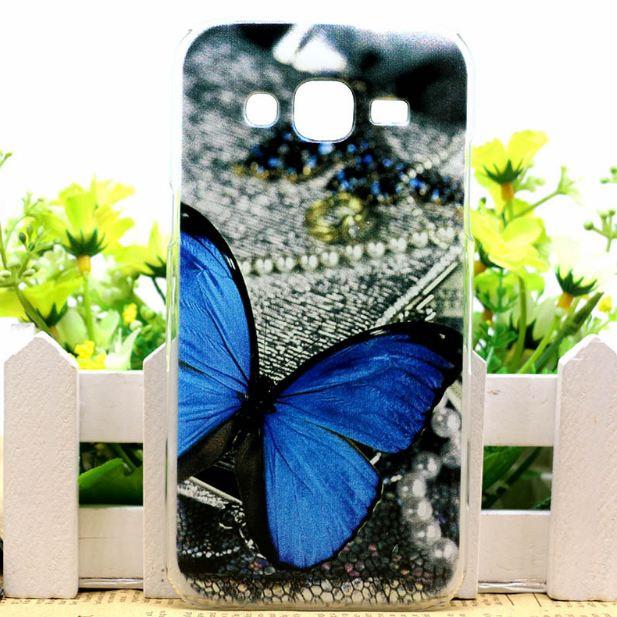 Силиконовый бампер для Samsung J500H Galaxy J5 с картинкой бабочка на жемчуге