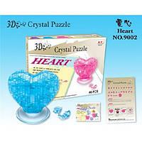 3Д Пазлы кристалл Crystal Puzzle Сердце