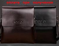Сумка мужская кожаная бренд POLO Поло (средняя)