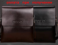 Сумка чоловіча шкіряна бренд POLO Поло (середня), фото 1
