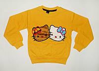 Джемпер для Девочки Начес Hello Kitty Желтый Рост 122-128 см