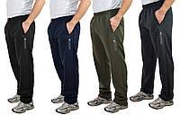 Мужские теплые трикотажные штаны с начесом