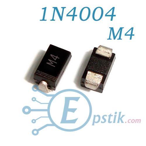Диод 1N4004 S1G 1A 400V M4  SMD SMA DO-214