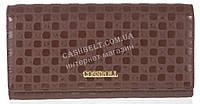 Стильный женский кошелек с тисненой кожи высокого качества COSSROLL art. A132-9111-3 коричневый, фото 1