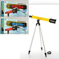 Телескоп 6609A 53см, штатив 57см, 3 цвета, в кор-ке, 62-22-8см