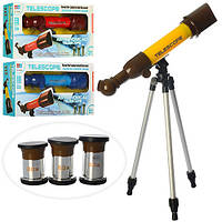 Телескоп 6606A 45см, штатив, увеличение в 40,60,80 раз, 3 цвета, в кор-ке, 47,5-22-8,5см