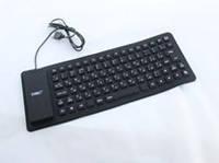 Клавиатура силиконовая KEYBOARD X3, компактная клавиатура для компьютера