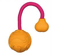 Trixie (Трикси) 33471 Мяч апортировочный натуральная резина с ручкой, фото 1