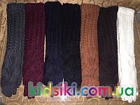 Женские перчатки длинные теплые с довязом зима вязка трикотаж оптом