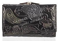 Небольшой элитный женский кошелек с кожи высокого качественный DEKESI art. 5034-1 черный