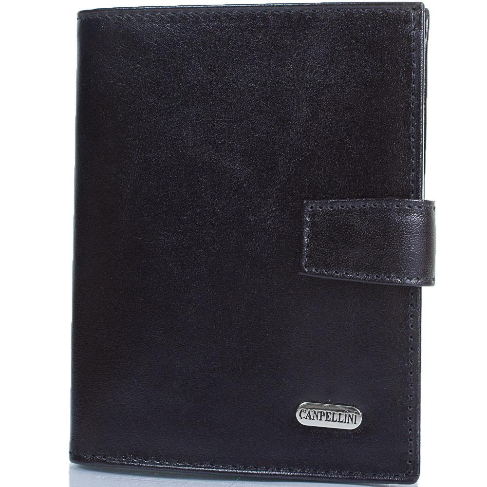 Мужской кошелек из натуральной кожи CANPELLINI SHI506-1 черный
