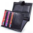 Мужской кошелек из натуральной кожи CANPELLINI SHI506-1 черный, фото 6