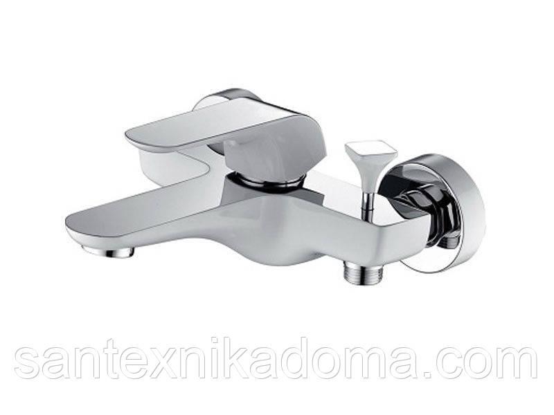 Смеситель для ванны Venezia-Skyline, белый-хром