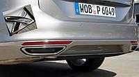 Volkswagen Passat B8 2015+ гг. Накладки на задний бампер (2 шт, нерж)