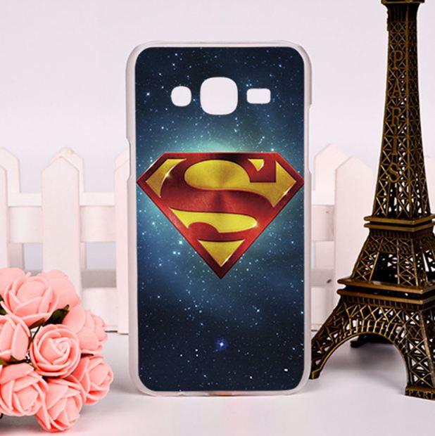 Силиконовый чехол для Samsung Galaxy J7 J700H с картинкой Супермен