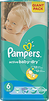 Подгузники Pampers Active Baby 6 - Junior+ 56шт (15+ кг) Jumbo