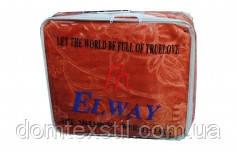 Одеяло-плед  тесненный  от  ТМ Elwey коралловый полуторный