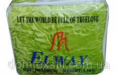 Одеяло-плед  тесненный   салатовый  двуспальный евро