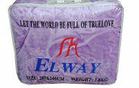 Одеяло-плед  тесненный  от  ТМ Elwey сиреневый  полуторный