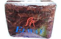 Одеяло-плед  тесненный  от  ТМ Elwey шоколад  полуторный