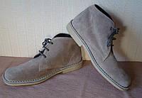Ботинки мужские демисезонные замшевые серые Cotton Traders (размер 43, UK9)