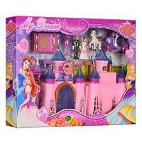 Замок SG-2973 принцес, фігурки, меблі, карета, муз., світло, бат., кор., 31,5-47-6 см. Артикул: SG-2973