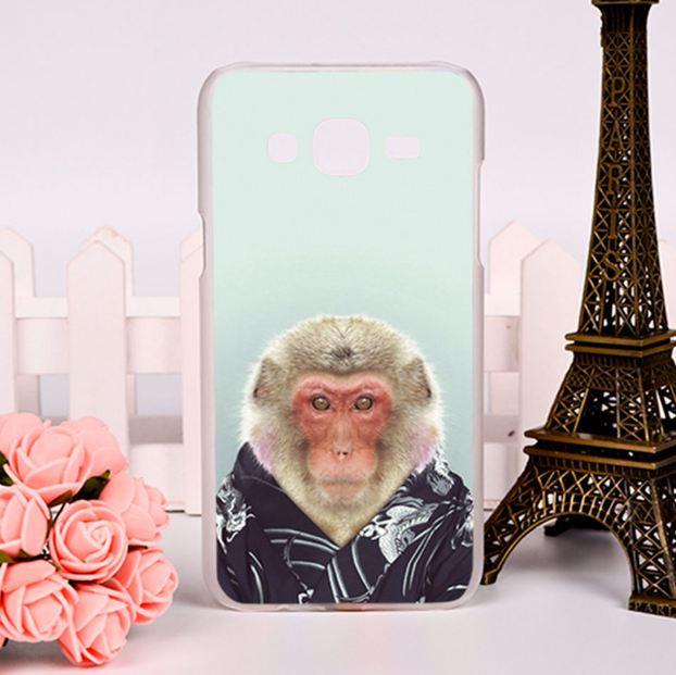 Чехол силиконовый бампер для Samsung Galaxy J7 J700H с рисунком Мистер шимпанзе