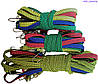 Резинка багажная с крючками  1 м х 20 мм (10 шт/упак) цветная плоская