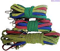 Резинка багажная с крючками  1 м х 20 мм (10 шт/упак) цветная плоская , фото 1