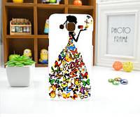 Эксклюзивные чехлы для Samsung Galaxy J7 J700H - Платье из бабочек