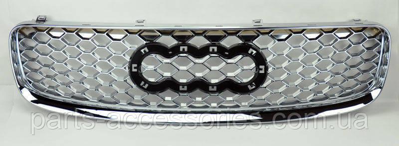 Решетка радиатора Audi TT 1999-06 в стиле RS хромовая новая