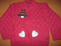 Детские тепленькие кофточки Сердечки для девочки 1 год Турция