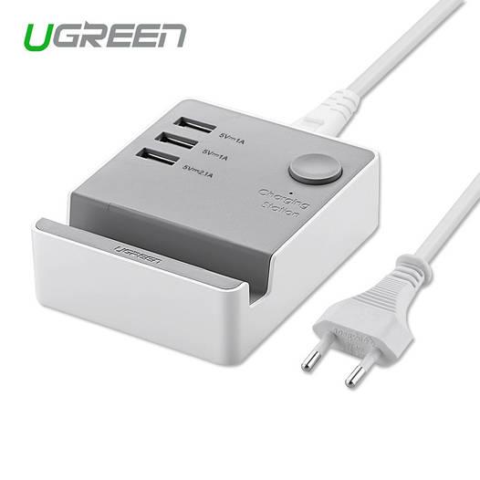 Ugreen зарядная станция 3 USB порта + подставка