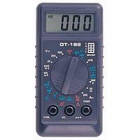 Мультиметр цифровой DT-182, тестер, компактный размер, тест батарей, диодов, транзисторов, фото 1
