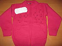 Детская теплая кофточка Бусинка для девочки 1-3 года Турция