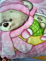 Детское одеяло плед Мишка-беби