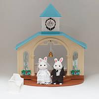 Животные флоксовые Happy Family 012-09 Свадебная церемония (аналог Sylvanian Families)