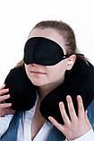 Ортопедическая дорожная подушка для шеи Sleepmax® c маской для сна и берушами., фото 3