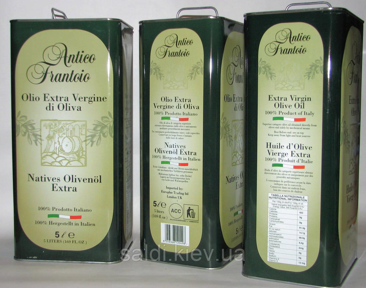 Оливковое масло Antico frantoio первого холодного отжима 5 литров