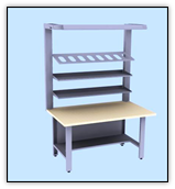 Стол для пошива и ремонта обуви, стеллаж для колодок